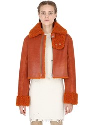 Yeezy Cropped Shearling Coat