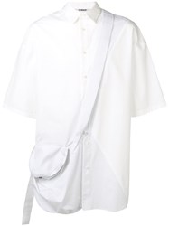 Chalayan Cross Body Strap Shirt White
