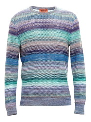 Missoni Signature Zig Zag Sweater Blue