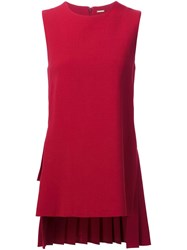 Adam By Adam Lippes Pleat Back Blouse Red