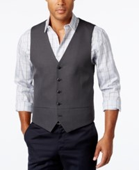 Alfani Men's Charcoal Vest Slim Fit