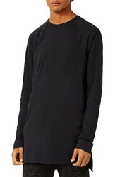 Topman Men's Longline Ripped T Shirt