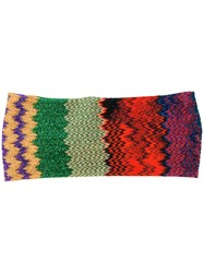 Missoni Zig Zag Knitted Hairband Multicolour