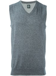 Eleventy Knitted Vest Grey