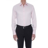 Bruce Field Men's Shirt Slim Fit Plain Two Button High Collar French Cuffed