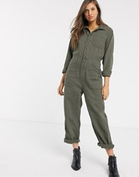 Free People Gia Overall Jumpsuit Green