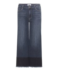 Paige Lori High Rise Cropped Flared Jeans Blue