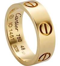 Cartier Love 18Ct Yellow Gold Ring