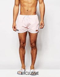 Ellesse Swim Shorts With Taping Exclusive To Asos Orange