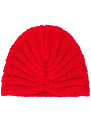 P.A.R.O.S.H. Knitted Beanie Red