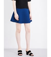 Sandro Flared Textured Mini Skirt Egyptian Blue