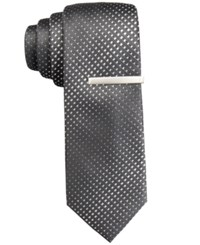 Alfani Men's Mars Dot Skinny Tie Only At Macy's Black