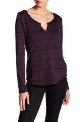 Joe's Jeans Aleta Henley Tee Purple