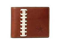 Dooney And Bourke Nfl Leather Wallets Credit Card Billfold Tan Tan Cowboys Credit Card Wallet Brown