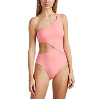 Solid And Striped Claudia Cut Out One Piece Swimsuit Pink