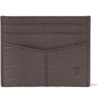 Tod's Textured Leather Cardholder Gray