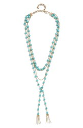 Baublebar Oralia Layered Y Chain Necklace Turquoise