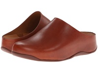 Fitflop Shuv Leather Dark Tan Women's Clog Shoes Brown