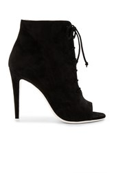 Off White Open Toe Bootie Black