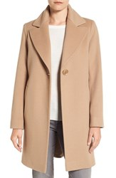 Fleurette Women's Loro Piana Wool One Button Coat Camel