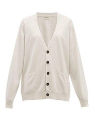 Connolly Patch Pocket Cashmere Cardigan Cream