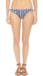 Madewell Tie Side Bikini Bottoms Dark Chambray