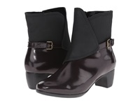 Softwalk Puddles Bordeaux Black Box Leather Man Made Women's Boots