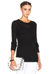 Jenni Kayne Ribbed Crew Sweater In Black