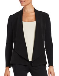 Nipon Boutique Mixed Media Cardigan Black