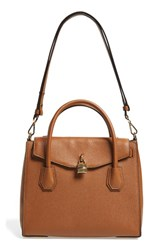 Michael Michael Kors Large Mercer All In One Leather Satchel Brown Luggage Gold