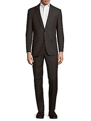 Michael Kors Slim Fit Solid Wool Suit Grey