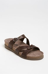 Women's Mephisto 'Hannel' Sandal Dark Brown Scratch
