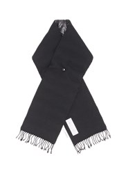 Nanamica Wool Twill Padded Down Scarf Black