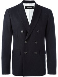 Dsquared2 Pinstripe Double Breasted Blazer Blue