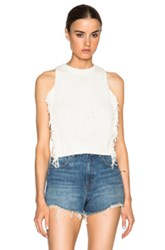 3.1 Phillip Lim Fringe Crop Top In White