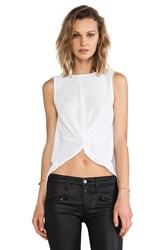 Bcbgeneration Knot Front Tank White