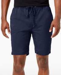 American Rag Men's Classic Fit Stretch Solid Drawstring Shorts Only At Macy's Basic Navy