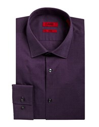 Hugo Slim Fit Microdot Dress Shirt Purple