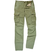 Incotex Slim Fit Cotton And Linen Blend Cargo Trousers Green
