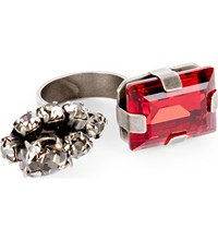 Marni Split Crystal Cluster Ring Red