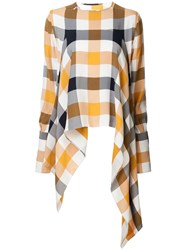 Monse Checked Asymmetric Blouse Multicolour