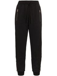 Haider Ackermann Layered Cuff Cropped Track Trousers Black