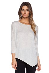 Autumn Cashmere Asymmetric Crew Sweater Gray