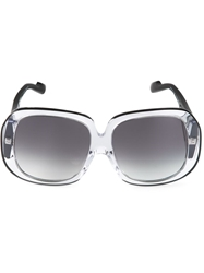 Courreges Rectangular Sunglasses Black