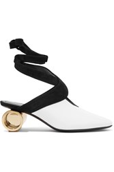 J.W.Anderson Suede Trimmed Leather Pumps White