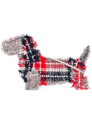 Thom Browne Oversized Tartan Hector Clutch Red