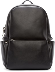 Calvin Klein Black Leather Utility Backpack
