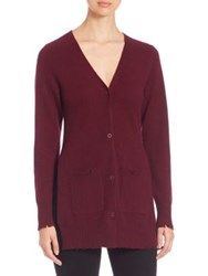 Rta Long Sleeve Cashmere Sweater Wine