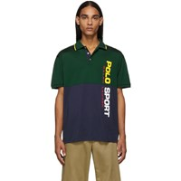 Polo Ralph Lauren Green And Navy Stretch Mesh