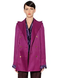 Nina Ricci Oversized Wool And Silk Gabardine Jacket